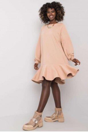 Smėlinės spalvos suknelė MOD1192