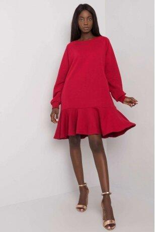 Kaštoninės spalvos suknelė MOD1192