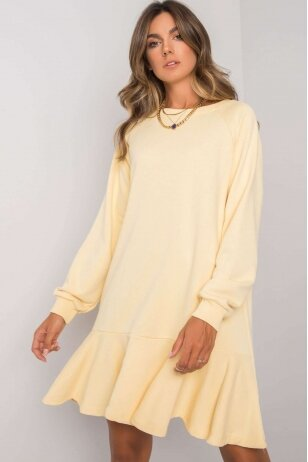 Geltona suknelė MOD1192