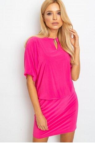Rožinė suknelė MOD924