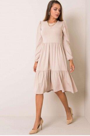 Smėlinės spalvos suknelė MOD1210