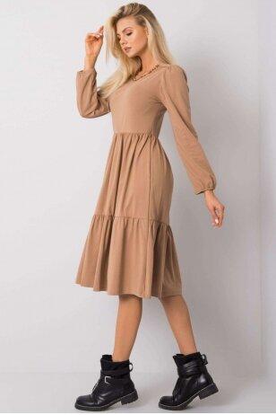 Šviesiai ruda suknelė MOD1210