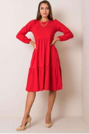 Raudona suknelė MOD1210