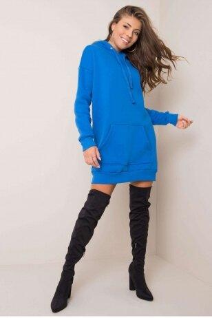 Mėlyna suknelė tunika MOD1209