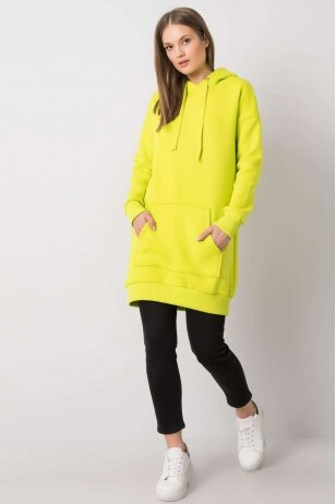 Neoninė žalia suknelė tunika MOD1209