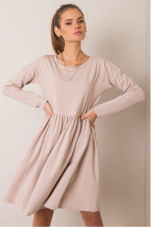 Smėlinės spalvos suknelė MOD896