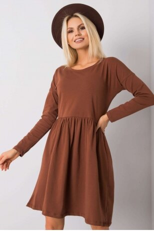 Ruda suknelė MOD896