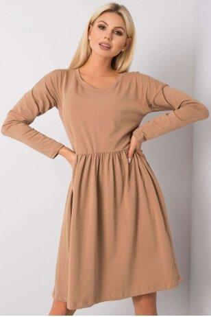 Šviesiai ruda suknelė MOD896
