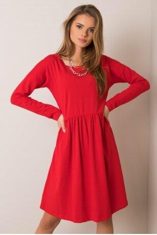 Raudona suknelė MOD896