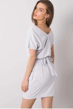 Šviesiai pilka suknelė MOD917