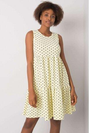 Šviesiai geltona suknelė MOD1126
