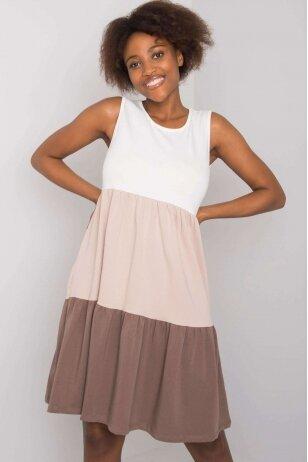 Smėlinės spalvos suknelė MOD1127