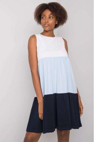 Tamsiai mėlyna suknelė MOD1127