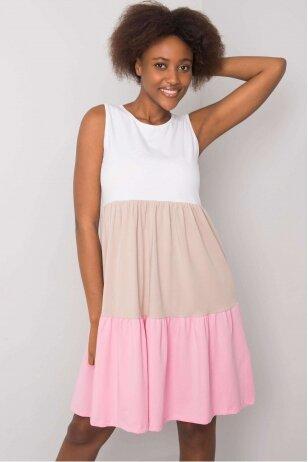 Šviesiai rožinė suknelė MOD1127