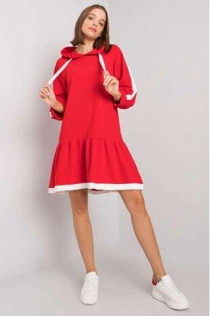 Raudona suknelė MOD1193
