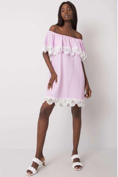 Šviesiai violetinė suknelė MOD1142 2