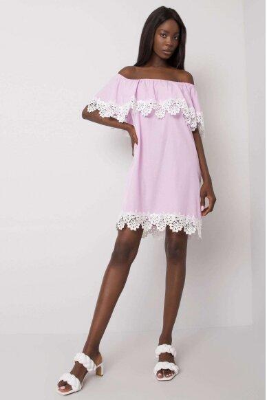 Šviesiai violetinė suknelė MOD1142 3
