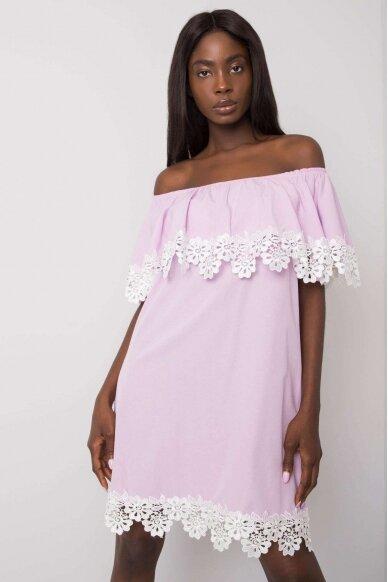 Šviesiai violetinė suknelė MOD1142