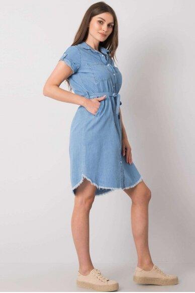 Mėlyna džinsinė suknelė MOD986 3
