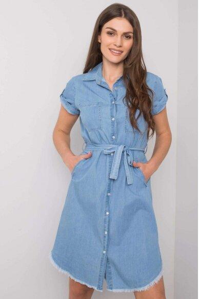 Mėlyna džinsinė suknelė MOD986