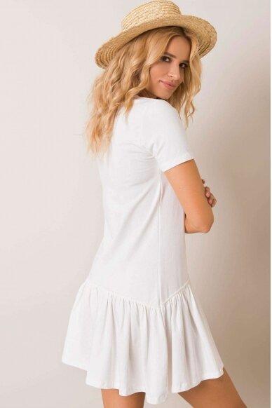 Nebalintos drobės spalvos suknelė MOD1027 2