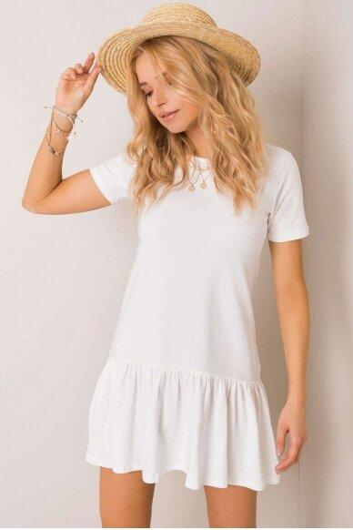 Nebalintos drobės spalvos suknelė MOD1027