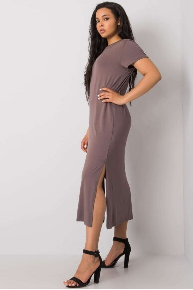Kapučino spalvos suknelė MOD989 2
