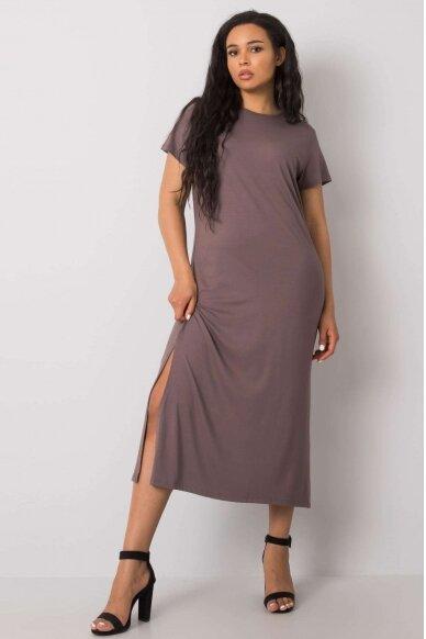 Kapučino spalvos suknelė MOD989