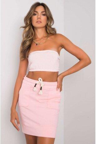 Šviesiai rožinės spalvos sijonas MOD1154