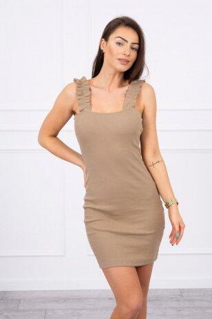 Šviesiai ruda suknelė MOD692