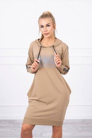 Šviesiai ruda suknelė MOD747