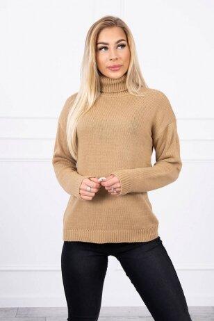 Šviesiai rudas megztinis MOD785