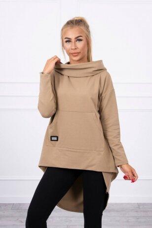 Šviesiai rudos spalvos marškinėliai MOD755