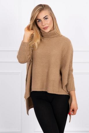 Šviesiai rudos spalvos megztinis MOD467