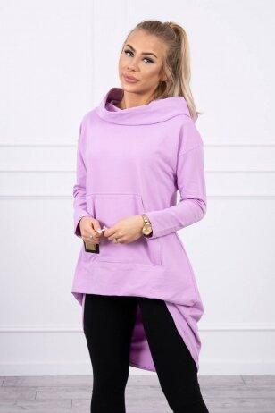 Šviesiai violetinės spalvos marškinėliai MOD755
