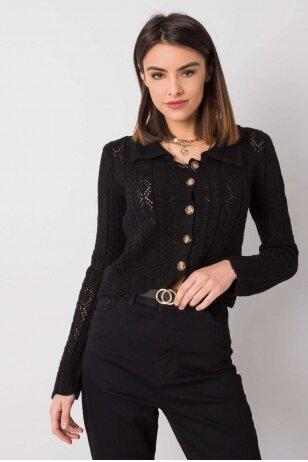 Juodas megztinis MOD1217