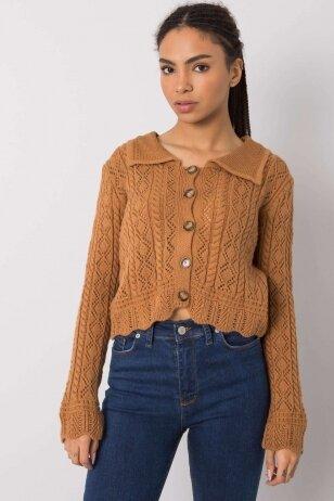 Šviesiai rudas megztinis MOD1217
