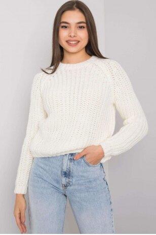 Nebalintos drobės spalvos megztinis MOD1513