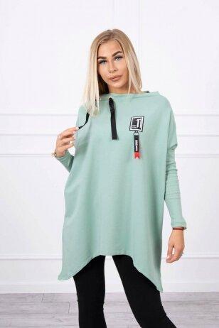 Tamsiai mėtinės spalvos marškinėliai MOD450