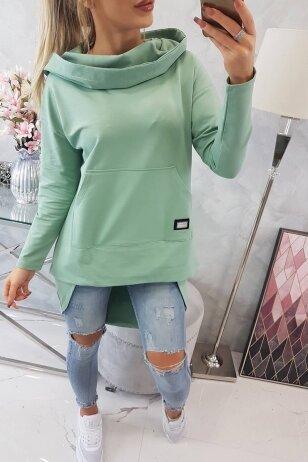 Tamsiai mėtinės spalvos marškinėliai MOD755