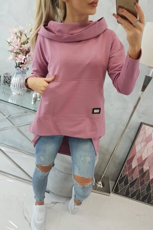 Tamsiai rožinės spalvos marškinėliai MOD755