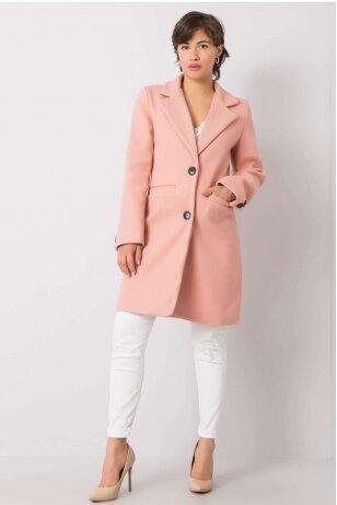 Nude spalvos paltas MOD898