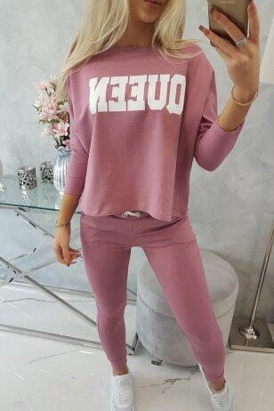 Tamsiai rožinės spalvos sportinis kostiumas MOD623