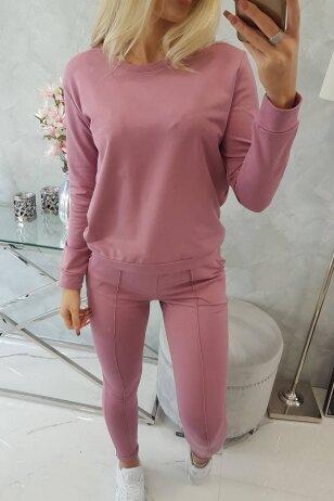 Tamsiai rožinės spalvos sportinis kostiumas MOD711
