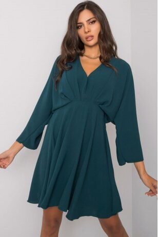 Tamsiai žalia suknelė MOD1220