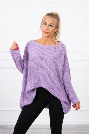 Violetinės spalvos megztinis MOD442