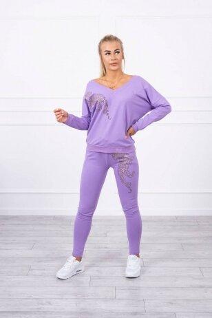 Violetinės spalvos sportinis kostiumas MOD765